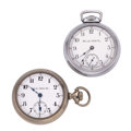 Timepieces:Pocket (post 1900), Two Hamilton 18 Size Watches. ... (Total: 2 Items)