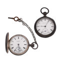 Timepieces:Pocket (pre 1900) , Two Silver Waltham Key Winds. ... (Total: 2 Items)