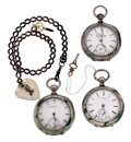 Timepieces:Pocket (post 1900), Three Key Wind 18 Size Pocket Watches. ... (Total: 3 Items)