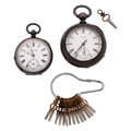 Timepieces:Pocket (pre 1900) , Waltham & Kendal & Dent Key Wind Pocket Watches. ...(Total: 3 Items)