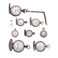 Timepieces:Other , Eight Pocket Watches & Two Watch Bows. ... (Total: 10 Items)