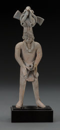 Pre-Columbian:Ceramics, A Jaina Male Figure . c. 600 - 800 AD...