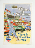 Miscellaneous Collectibles:General, 1963 12 Hours of Sebring Poster....