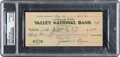 Miscellaneous Collectibles:General, 1957 Jimmy Bryan Signed Personal Check....