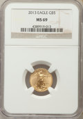 Modern Bullion Coins, 2013 $5 Tenth-Ounce Gold Eagle MS69 NGC. PCGS Population (301/3816). Numismedia Wsl. Price for problem ...