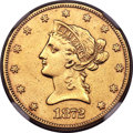 1872-CC $10 -- Improperly Cleaned -- NGC Details. XF. Variety 1-A....(PCGS# 8664)