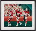 Football Collectibles:Photos, Joe Montana Signed Oversized Photograph....