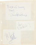Music Memorabilia:Autographs and Signed Items, Jimi Hendrix Experience Autographs Obtained In Offenbach, Germany(1967)....