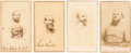 Photography:CDVs, Confederate Cartes-de-Visite: Arnold Elzey, Jubal Anderson Early, Richard Stoddert Ewell and Nathan George Evans.... (Total: 4 Items)