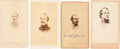 Photography:CDVs, Confederate Cartes-de-Visite: Albert Sidney Johnston, Joseph E. Johnston, Bushrod Rust Johnson and Edward Johnson.... (Total: 4 Items)
