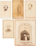 Photography:CDVs, Confederate Cartes-de-Visite: Edmund Kirby Smith, Gustavus Woodson Smith and Raphael Semmes.... (Total: 5 Items)