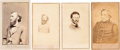 Photography:CDVs, Confederate Cartes-de-Visite: John S. Marmaduke, Humphrey Marshall, Dabney Herndon Maury and Lafayette McLaws.... (Total: 4 Items)