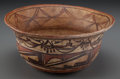 American Indian Art:Pottery, A Hopi (Polacca) Helmet Bowl. c. 1870...