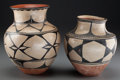 American Indian Art:Pottery, Two Santo Domingo Storage Jars. c. 1920... (Total: 2 Items)