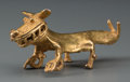 Pre-Columbian:Metal/Gold, A Cocle Gold Pendant Representing A Snarling Jungle Cat. c. 700 -1000 AD...