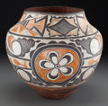 American Indian Art:Pottery, A Acoma Polychrome Jar. c. 1910. ...