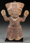 Pre-Columbian:Ceramics, A Vera Cruz Figural Whistle. c. 600 - 900 AD...