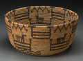 American Indian Art:Baskets, An Apache Pictorial Coiled Bowl. c. 1920. ...