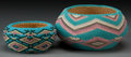 American Indian Art:Baskets, Two Paiute Beaded Baskets. Rebecca Eagle. c. 1920...
