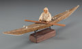 American Indian Art:Wood Sculpture, An Eskimo Model Kayak. c. 1940... (Total: 2 )