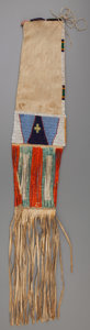 American Indian Art:Beadwork and Quillwork, A Sioux Beaded Hide Tobacco Bag . c. 1890...