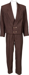 Music Memorabilia:Costumes, James Brown Stage-Worn Double-Breasted Brown Suit....