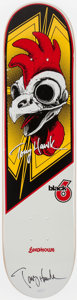 Miscellaneous Collectibles:General, Tony Hawk Signed Rooster Skateboard Deck. ...