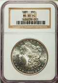Morgan Dollars: , 1885 $1 MS65 Prooflike NGC. NGC Census: (180/51). PCGS Population (225/76). Numismedia Wsl. Price for problem free NGC/PCG...
