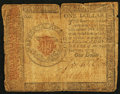 Colonial Notes:Continental Congress Issues, Continental Currency January 14, 1779 $1 Very Good.. ... (Total: 2items)