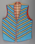 American Indian Art:Beadwork and Quillwork, A Blackfeet Man's Beaded Hide Vest. c. 1900...