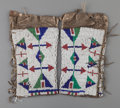 American Indian Art:Beadwork and Quillwork, A Pair of Sioux Girl's Beaded Hide Leggings. c. 1890... (Total: 2Items)