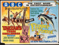"Movie Posters:Adventure, Tarzan's Three Challenges/Flipper and the Pirates Combo (MGM,R-1965). British Quad (30.25"" X 40""). Adventure.. ..."