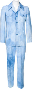 Music Memorabilia:Costumes, Elvis Presley Owned/Worn Blue-Wash Denim Suit (The Tony Alamo of Nashville, late 1960s-70s)....