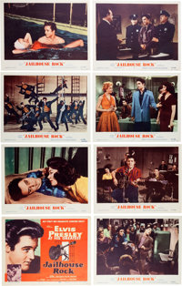 Elvis Presley Set of Eight Jailhouse Rock Re-Release Lobby Cards (MGM, 1960)
