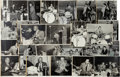Music Memorabilia:Autographs and Signed Items, Jazz - A Group Of Twenty-Six Signed Black And White Photographs OfJazz Percussionists And Double Bass Players (circa late 194...