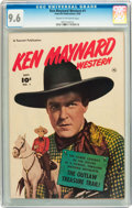 Golden Age (1938-1955):Western, Ken Maynard Western #1 (Fawcett, 1950) CGC NM+ 9.6 Cream tooff-white pages....