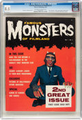 Magazines:Horror, Famous Monsters of Filmland #2 (Warren, 1958) CGC VF+ 8.5 Off-white to white pages....