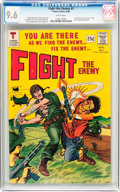 Silver Age (1956-1969):War, Fight The Enemy #1 (Tower, 1966) CGC NM+ 9.6 White pages....