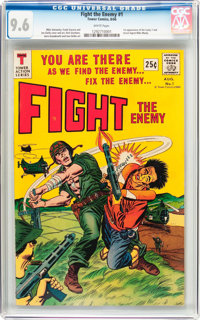 Fight The Enemy #1 (Tower, 1966) CGC NM+ 9.6 White pages
