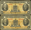Canadian Currency: , Montreal, PQ- Royal Bank of Canada $10 Jan. 2, 1935 Charlton630-18-04a, Two Examples. ... (Total: 2 notes)