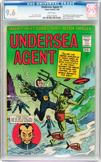 Undersea Agent #1 (Tower, 1966) CGC NM+ 9.6 White pages