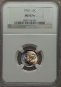 Roosevelt Dimes, 1952 10C MS67 ★ NGC. NGC Census: (181/4 and 10/0*). PCGS Population (49/0 and 10/0*). Mintage...