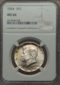 Kennedy Half Dollars, 1964 50C MS66 NGC. NGC Census: (842/44). PCGS Population (1294/46).Mintage: 273,300,000. Numismedia Wsl. Price for problem...