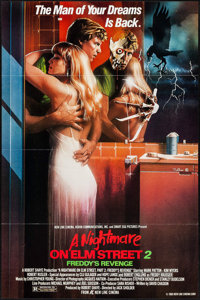 "A Nightmare on Elm Street 2: Freddy's Revenge & Other Lot (New Line, 1985). One Sheets (2) (27"" X 41"") Fla..."