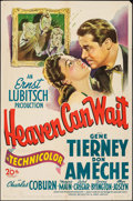 """Movie Posters:Comedy, Heaven Can Wait (20th Century Fox, 1943). One Sheet (27"""" X 41"""").Comedy.. ..."""