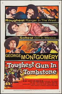 """The Toughest Gun in Tombstone & Others Lot (United Artists, 1958). One Sheets (3) (27"""" X 41"""") & Half S..."""