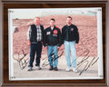 Miscellaneous Collectibles:General, 2001 USAC Triple Crown Winners Multi-Signed Photograph with TonyStewart. ...