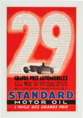 Miscellaneous Collectibles:General, 1933 Standard Motor Oil: The Oil of the Grand Prix Poster....