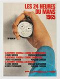 Miscellaneous Collectibles:General, 1965 24 Hours of Le Mans Poster....