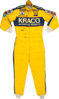 Miscellaneous Collectibles:General, 1988 Michael Andretti Race Worn, Signed Indy Car Driving Suit....
